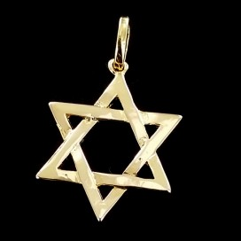 Estrella de David chapada en Oro