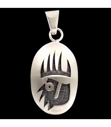 Zarpa del Oso de plata Simbolos Hopi. Colgante