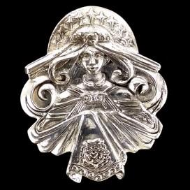 Virgen Maria. Colgante de plata