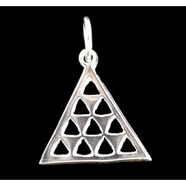 Tetraktys Colgante Pitagorico de plata