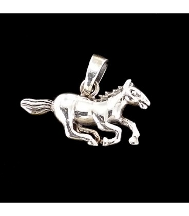 Mustang Espiritu Salvaje Colgante de plata