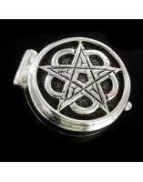 Pentaculo Esoterico. Pastillero de plata