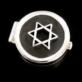 Estrella de David pastillero de plata