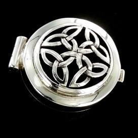 Triqueta Celta. Pastillero de plata