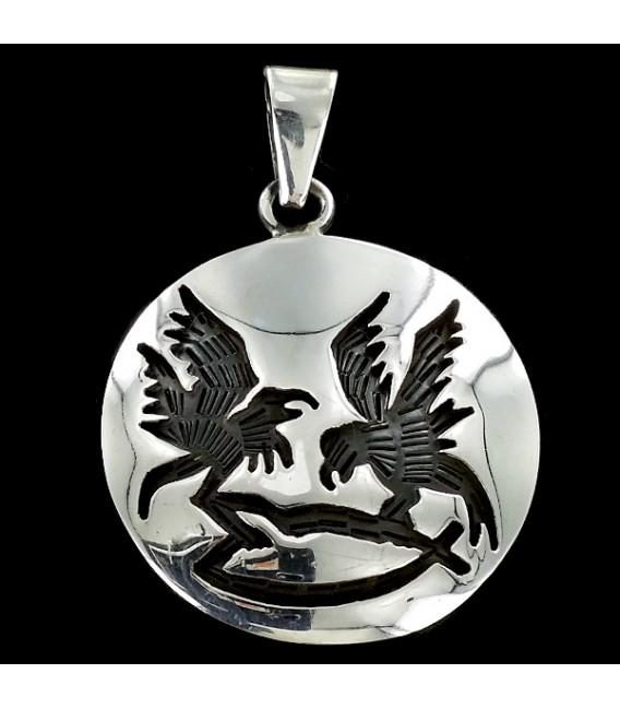 El Cuervo. Colgante de plata