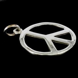 Simbolo de la paz de plata