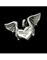 Corazon Alado de plata