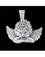 Colgante Angel de la Guarda con cadena Plata ley 925