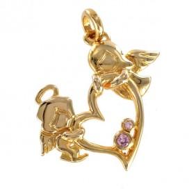 Los angeles del Amor chapado en oro