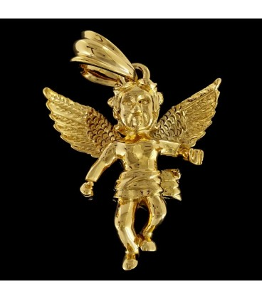 Ángel de la Guarda chapado en oro