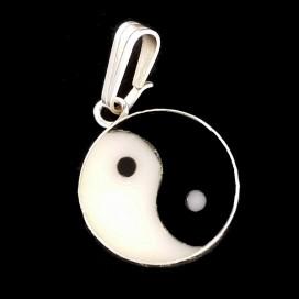 Yin Yang plata con incrustaciones