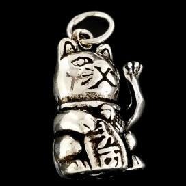 Maneki Neko. Colgante articulado de plata
