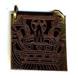 Tlaloc. Dios Azteca de la lluvia. Colgante