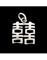 HSI-HSI Símbolo de la doble suerte de plata