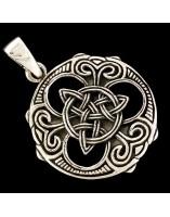 Triskel celta. Colgante de plata
