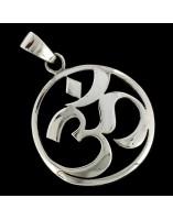 Simbolo Om. La Silaba Sagrada de plata