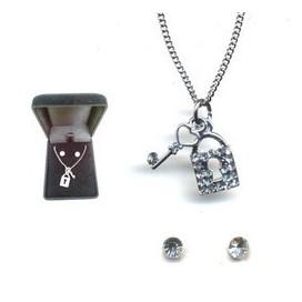 Conjunto Candado y llaves con pendientes