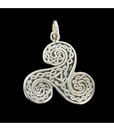 Trisquel Triskel Simbolo Celta de Plata