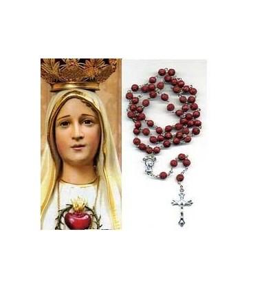 Rosario de la Virgen de Fatima rojo