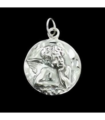 Medalla del Angel de la Guarda con cadena Plata ley 925