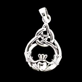 Simbolo de Claddagh. Plata