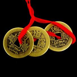 Tres Monedas Chinas de la Felicidad