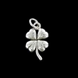 Trebol de 4 hojas de plata Atrae la suerte