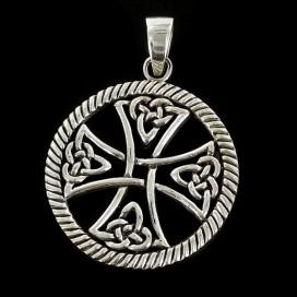 Cruz Celta. Colgante de plata