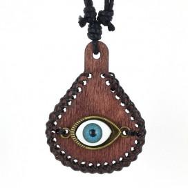Ojo Turco colgante de madera