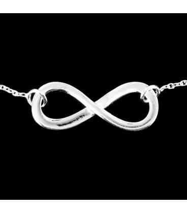Simbolo de infinito. Colgante de plata