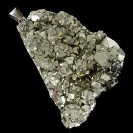 Colgante de Pirita montado en plata