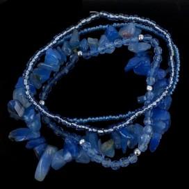 Agata Azul. Conjunto de pulseras