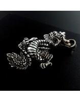 Dragon de plata articulado. Colgante de plata
