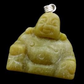 Buda Feliz Colgante de Jade