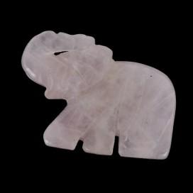 Elefante de Cuarzo Rosa