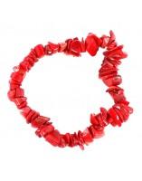 Pulsera chip de Coral Rojo