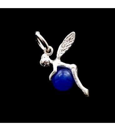 Colgante Hada con agata azul  tallada