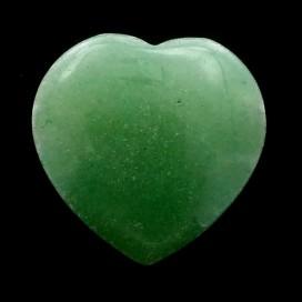 Colgante corazon de Cuarzo Verde