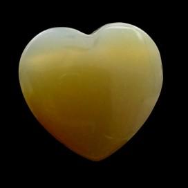 Colgante corazon de Agata Gris