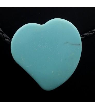 Colgante corazon de Howlita