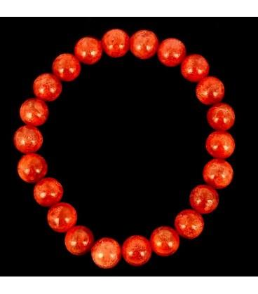 Pulsera bola de Coral 8 mm