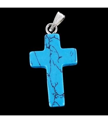Cruz de Turquenita con cadena de plata