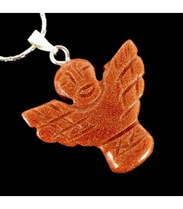 Angel de la Guarda de Piedra del sol con cadena