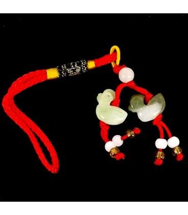 Patos Colgante Feng Shui de jade