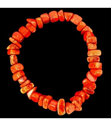Pulsera chip de Coral manzana