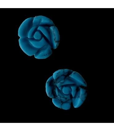 Pendientes Flor de Turquenita y Plata