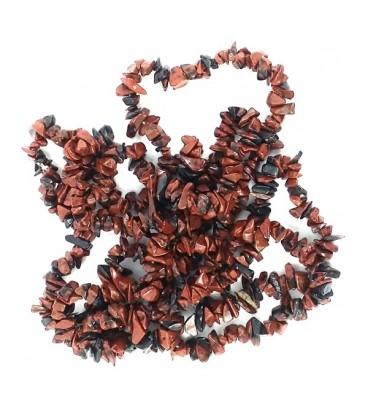Collar de Obsidiana Caoba