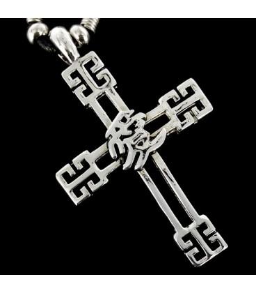 Cruz con simbolo Chino del Amor