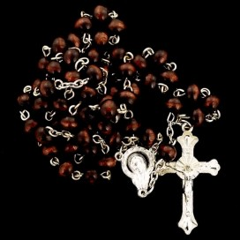 Rosary. Wooden beads