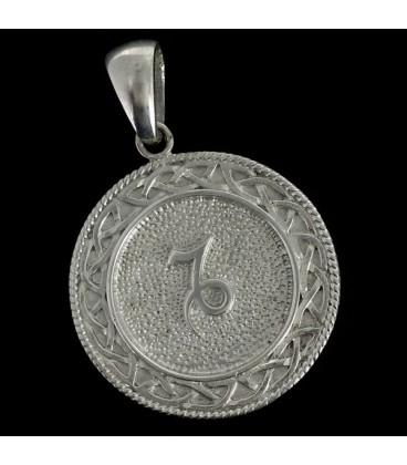 Capricornio Colgante astrologico de metal Nebula